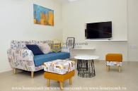 Artistic apartment with well-customized interior for rent in Masteri Thao Dien