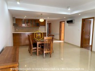 Semi-furnished apartment with simplified style for rent in River Garden