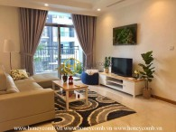 This graceful apartment in Vinhomes Central Park  promises to give you remarkable values. For rent NOW!