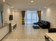 Large living space apartment with brand new furnishings for rent in Vinhomes Central Park