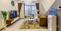 Căn hộ 3 phòng ngủ với phong cách retro mộc mạc cho thuê ở Vinhomes Central Park