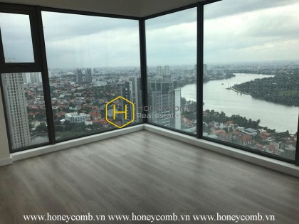 Gateway apartment for rent: Spacious, unfurnished living space with nice view