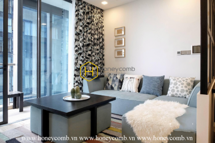 Fully-furnished apartment with subtle layout for rent in Vinhomes Golden River