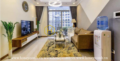 Retro rustic style with 3 bedrooms-apartment for lease in Vinhomes Central Park