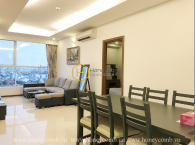 Spacious living space and harmonizing style in Thao Dien Pearl apartment for rent