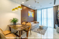 What a 2 bedrooms apartment with modern furniture in Vinhomes Golden River