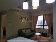 Căn hộ 2 phòng ngủ cho thuê, nội thất đơn giản, dễ thương tại Masteri Thảo Điền