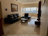 Cho thuê căn hộ Saigon Pearl sang trọng với các mảng tường được thiết kế nổi bật