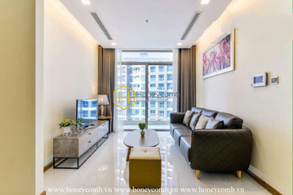 Brilliant apartment for rent in Vinhomes Central Park with modern interiors