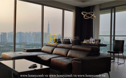 An airy river view apartment for rent with full furniture in Diamond Island