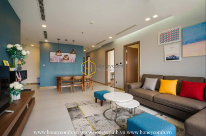 """A vast design in Vinhomes Central Park apartment that makes you say """" WOW """""""