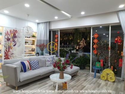 Stunning apartment with delicate urban interiors in The Estella