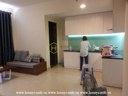 Wonderful 2 bedrooms apartment with middle floor in Masteri Thao Dien