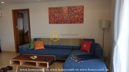 Perfect interior with a 3-bedroom apartment in River Garden for rent