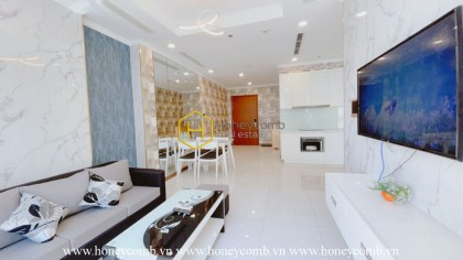 Luxury apartment for rent with sharp motifs in Vinhomes Central Park