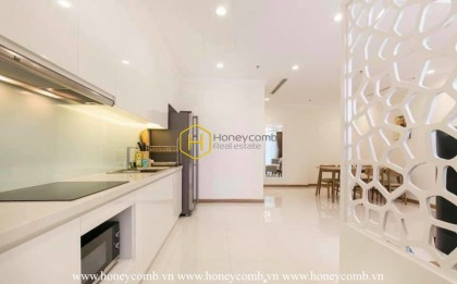 Charming pure-white tone apartment with sophisticated interiors in Vinhomes Central Park