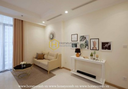 Enchanting apartment for rent in Vinhomes Central Park with modern interiors
