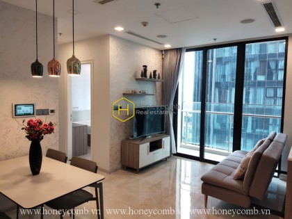 Relax with the peaceful atmosphere in this elegant furnished apartment in Vinhomes Golden River