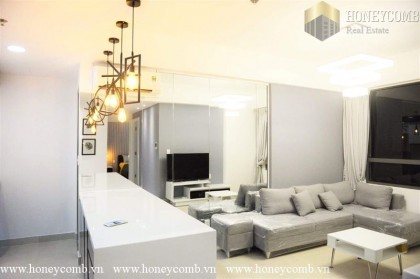 Nice designed apartment two bedroom with modern style in Masteri for rent