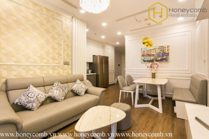 The 2 beds apartment with a liberal architecture, natural open space in Vinhomes Golden River