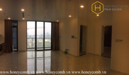 The unfurnished 3 bedrooms apartment with nice view in Vinhomes Golden River
