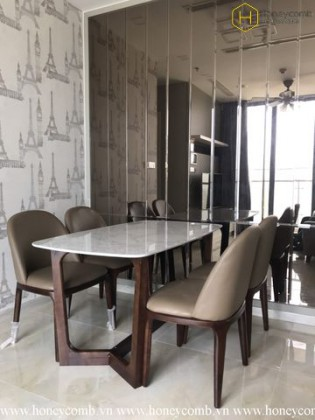 The 2 bedrooms apartment with urban style in Vinhomes Golden River