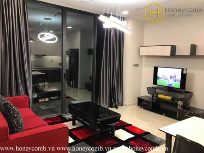 Awesome ! This is a colorful and modern 2 beds apartment in Vinhomes Golden River