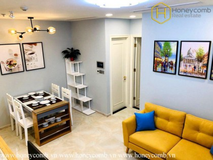 The 1 bedroom apartment with contemporary style in Vinhomes Golden River