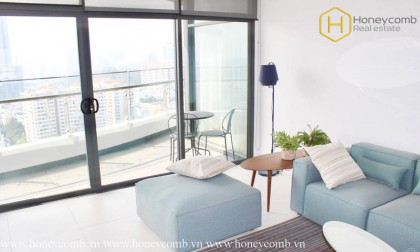The 3 bedrooms apartment with urban style in City Garden for rent
