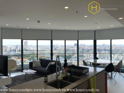 The 2 bedrooms apartment is very impressive in City Garden