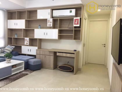 Simple furnished 2 bedrooms apartment with nice view in Masteri Thao Dien