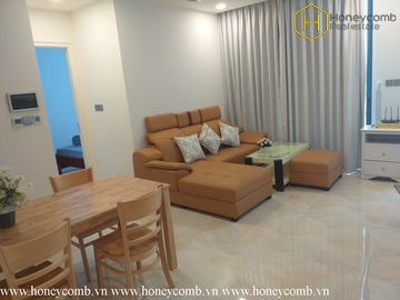 The 1 bedroom apartment is simple but very convenient in Vinhomes Golden River