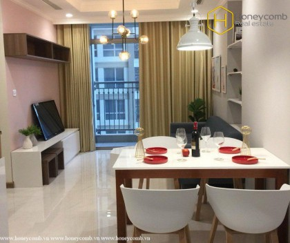 Perfect interior with a 2-bedrooms apartment in Vinhomes Central Park for rent