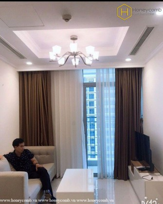 Simple style with 1 bedrooms apartment in Vinhomes Central Park for rent