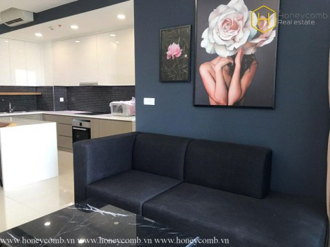 Nice furniture with 2 bedrooms apartment in The Estella Heights