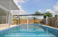 Enjoy the nonstop luxurious life with spacious and elegant wooden furnished Villa in District 2