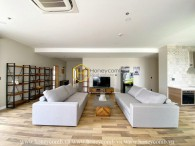 Luxurious wooden design Penthouse – Modern's wave of designing – Now for rent in Masteri Thao Dien