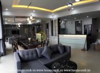 Wonderful three bedroom apartment high floor for rent in Masteri Thao Dien