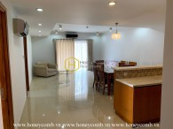 This gorgeous and semi-furnished apartment in River Garden provides a spacious & cozy living space