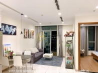 Creative design apartment with simplifed furnishings for rent in Vinhomes Central Park