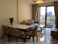 The wooden furnished apartment with modern design in Wilton Tower for rent