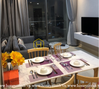 Lovely warm tone apartment with high-class interior in Masteri An Phu for lease