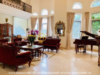 Such a great royal design villa that you haven't seen in your life! Now for rent in Thao Dien – District 2