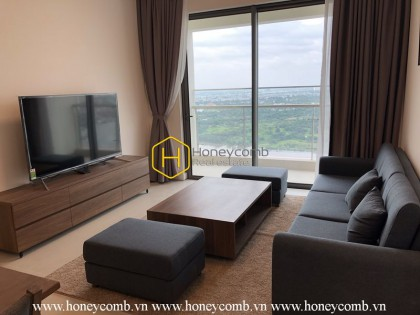 Elegant design apartment with luxurious wooden interiors for rent in Gateway Thao Dien