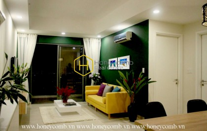 Two bedrooms apartment with high floor and river view in Masteri Thao Dien for rent