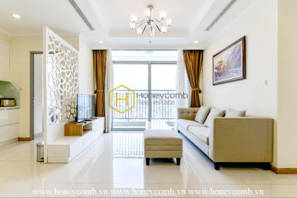 Innotative apartment with sun-filled balcony for rent in Vinhomes Central Park