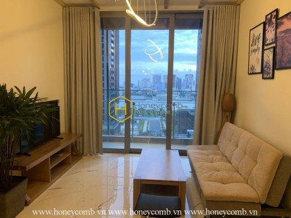 A deep tone and luxury interiors apartment in Empire City for rent
