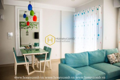 The 2 bed-apartment with pastel tone will give you the warmth and fresh feeling at Masteri Thao Dien