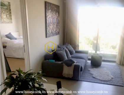 An apartment for rent in Masteri Thao Dien which has cozy living room