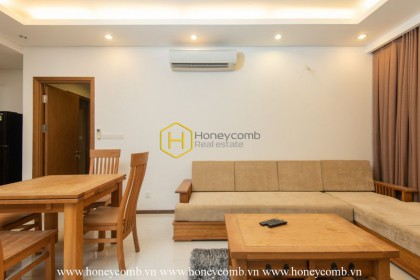 The rustic 2 bed-apartment with wooden furniture at Thap Dien Pearl